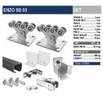Комплект для откатных ворот ENZO SB 03 с черной шиной.