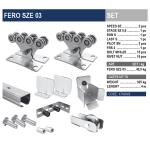 Комплект для откатных ворот FERO SZE 03 с оцинкованной шиной.