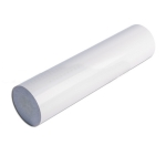 Поручень пластиковый ПВХ, белый