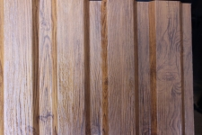 Металлопрофиль двухсторонний под заказ со структурой дерева (темное дерево, светлое дерево)