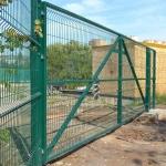 Надёжные ворота распашные из 3д сетки в полимерном покрытии