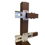 Кронштейн - крепление для столбов и перемычек без сварки