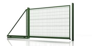 Ворота откатные из евросетки. Ворота для еврозабора. 3D забор. Ширина ворот 4 метра.