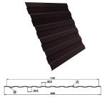 Металлопрофиль С8 1,5 метра 8017 шоколадно-коричневый
