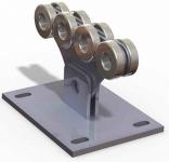 Комплектующие для откатных ворот SG.01 (комплект для ворот весом до 500 кг) с неоцинкованной шиной