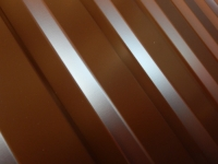 Металлопрофиль (профнастил) С-20 высота листа 1.8 метра 8017 (шоколадно-коричневый)