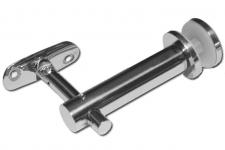 Держатель поручня к стеклу,  98 мм (AISI304), арт.241-3