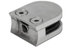 Стеклодержатель литой под стекло 8 мм на стойку(трубу) 38 мм, арт. 001-4