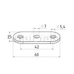 Ложемент под плоскость для крепления поручня (AISI304), арт. 046