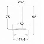 Держатель поручня на стойку 50,8мм, «палец» удлиненный (AISI304), арт. 536-3