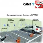 Автоматический парковочный барьер CAME Unipark, комплект на 4 места