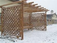 Забор-решетка мобильный пропитанный защитным составом.