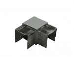 Отвод для поручня с пазом 40х40 мм, полированный, (AISI 304) АРТ.k546