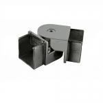 Отвод для поручня с пазом 40х40 мм, шарнирный, полированный, (AISI 304) АРТ.k546-2