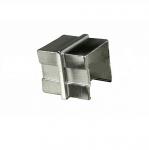 Соединитель для поручня с пазом 40х40 мм, полированный, (AISI 304) АРТ.k545