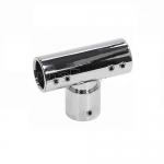 Соединитель-тройник для трубы 19 мм латунь-хром. АРТ.t902 PC