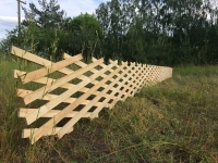 Забор-решетка мобильный.
