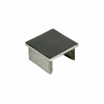 Заглушка для поручня с пазом 40x40 мм полированный (AISI 304) АРТ.k547