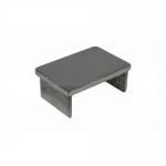 Заглушка для поручня с пазом 40x60 мм полированный (AISI 304) АРТ.k543