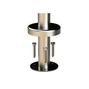 Готовая стойка,с двумя ригеледержателями, диаметр 38 мм (AISI304), арт. 712