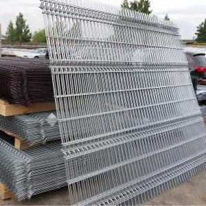 Надёжный 3Д забор оцинкованный из панелей сетки
