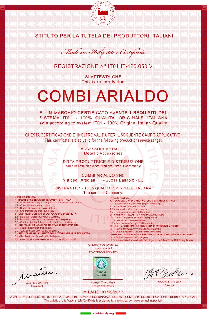 Certificato ita